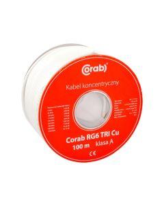 KABEL KONCENTRYCZNY RG6 TRI Cu CORAB 100m (szpula) Y_KONC00017