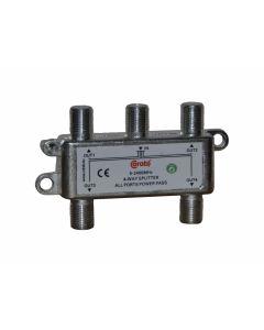 ROZGAŁĘŹNIK-SPLITER 5-2400 Mhz CORAB 4 DROŻNY Z PRZEJŚCIEM NAPIĘCIA Y_SPL0003