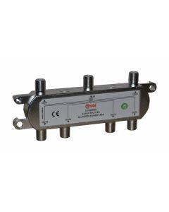 ROZGAŁĘŹNIK-SPLITER 5-2400 Mhz CORAB 6 DROŻNY Z PRZEJŚCIEM NAPIĘCIA Y_SPL0004