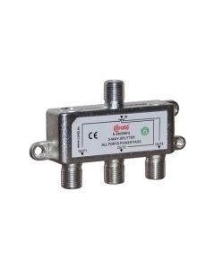 ROZGAŁĘŹNIK-SPLITER 5-2400 Mhz CORAB 3 DROŻNY Z PRZEJŚCIEM NAPIĘCIA Y_SPL0002