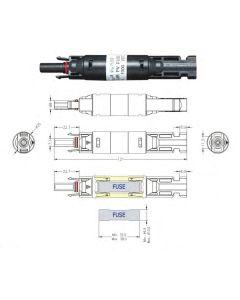Bezpiecznik MC4 do instalacji PV z wkładką topikową 30A 32-01-01.0003