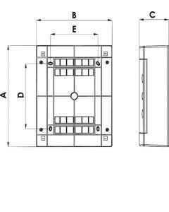 Rozdzielnica ECT8PT-s 8MOD IP40 32-01-05.0077