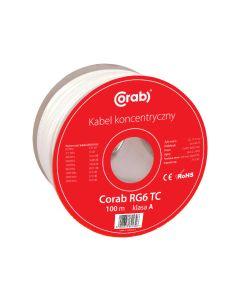 KABEL KONCENTRYCZNY RG6 CU CORAB 100m (szpula) Y_KONC00016