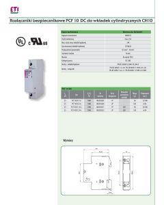 Rozłączniki bezpiecznikowe PCF 10 DC do wkładek cylindrycznych CH10 32-01-05.0027