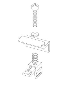 Klemy końcowe NOWY KLIK AL na panel 32-42 mm czarne - 4 kpl XFS_K002.20