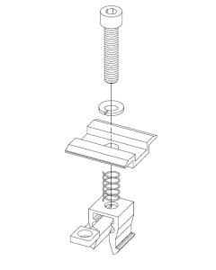 Klemy środkowe reg. NOWY KLIK  PE AL na panel 32 - 42mm czarne- 6 kpl XFS_K002.21