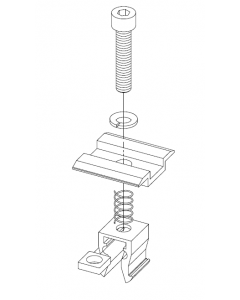 Klemy środkowe reg. KLIK (bez pinów)  AL na panel 32 - 42mm 6 kpl XFS_K002.15A